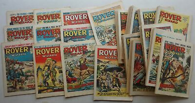 Rover and Wizard comic 1966 x 52 NR FULL YEAR (-1) Most FN/FN+ (phil-comics)