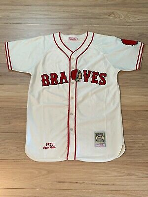 low priced 559cc 38b31 BABE RUTH BOSTON Braves 1935 Mitchell And Ness Jersey L ...