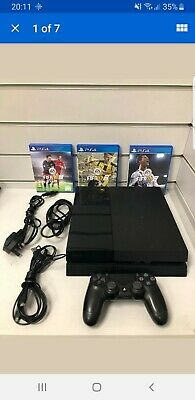 Sony PlayStation 4 Console 500GB - Black With 3 FIFA Games Bundle