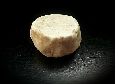 Roman Carved White Marble Stone Gaming Counter 100 A.d. – 300 A.d.