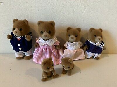 Sylvanian Families WHITE BEAR FAMILY FS-19 Epoch Japan Calico Critters