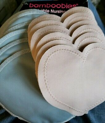 Bamboobies Washable Reusable Nursing Pads - Overnight & Ultra-thins - 12 pack