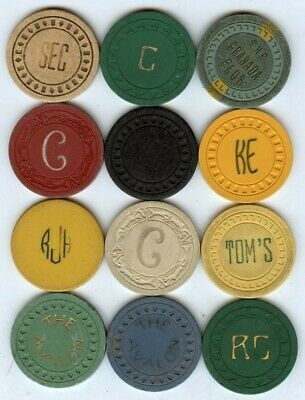 California & others casino chips 12 different