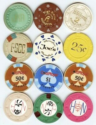 California + others casino chips 12 different