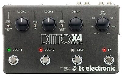 TC Electronic Ditto X4 Dual Track Looper Guitar Effects Pedal