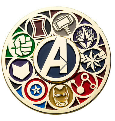 Sdcc 2019 Toynk Exclusive Marvel Avengers Deluxe Spinning Enamel Pin Le 1000