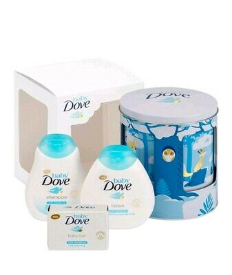 Baby Dove new baby boy gift set: Musical Tin, Shampoo , Soap , Lotion lulllaby