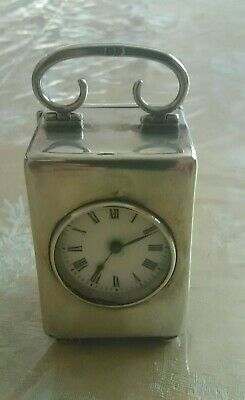 Antique Victorian Sterling Boudior carriage  Clock.1913 by ROBINSON & CO.FRANCE.