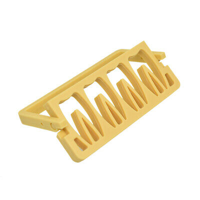 Endodontic Root Canal File Holder Box Disinfection Rack Yellow 8-Hole Dental