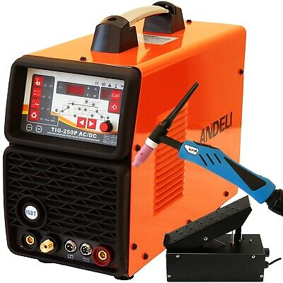 200Amp Pulse Ac/Dc Tig/Mma Inverter Welder 3 In 1 Welding Machine + Foot Pedal