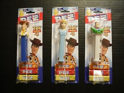 New Lot Set 3 Toy Story 4 Pez Dispensers 2019 Woody Bo Peep Buzz Lightyear