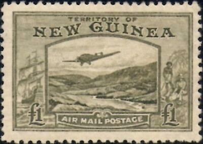 New Guinea 1939  Air Mail  £1 Olive-Green   SG.225  Mint (Hinged)    Cat:£140