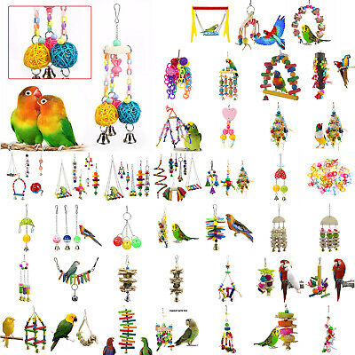 Pets Bird Toy Parrot Hanging Swing Rope Cage Toys Parakeet Cockatiel Budgie Gift