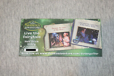"Half Price Voucher  ""Shrek's Adventure London"" up to 4 people."