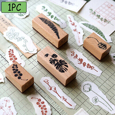 Stationery  Scrapbooking Wooden Rubber Stamp Floral printed  Cards Decor