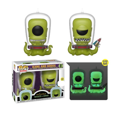 Funko Pop Kang and Kodos 2 Pack The Simpsons SDCC Exclusive Brand New