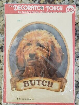 "Vintage 1980 THE MERERCORD CO. Decorator Touch Decal Transfer ""Butch"" Dog 296-C"