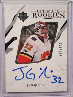 2017-18 UD Upper Deck Ultimate Rookies Jon Gillies Flames RC AUTO /399