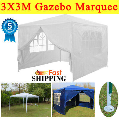 New 3Mx3M Party Tent Outdoor PE Garden Gazebo Marquee Canopy Awning UK