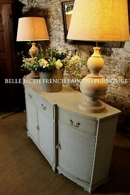 Large Slimline Gustavian Style Bow Fronted Sideboard