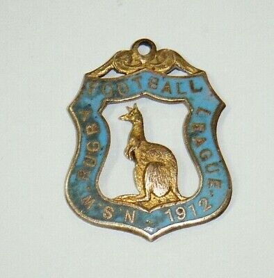 RARE!! New South Wales NSW Rugby Football League 1912 Members Badge