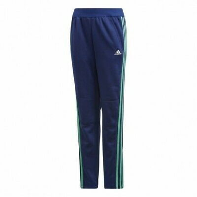 Adidas Young Boys Striped Joggers Blue/Green Junior UK Size 7-8 Years *5