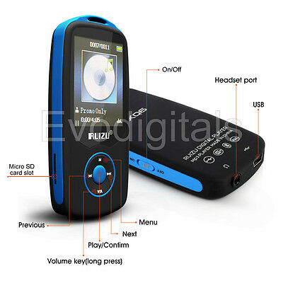 MP3 Stereo Music Player Digital LCD RUIZU MP4 Bluetooth Support 64GB Micro SD