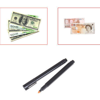 2pcs Currency Money Detector Money Checker Counterfeit Marker Fake  Tester