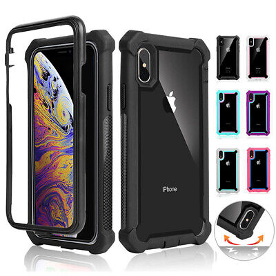 For iPhone XR XS MAX 6 7 8 Plus Clear Shockproof Heavy Duty Hybrid Case Cover