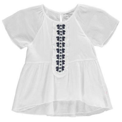 French Connection Girls FCUK Placket Front Blouse Top White 9-10 Years *REF2