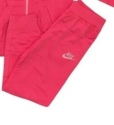Nike Girls Kids Tracksuit Bottoms Joggers Girls Pink 75-80cm 12 Months  *10