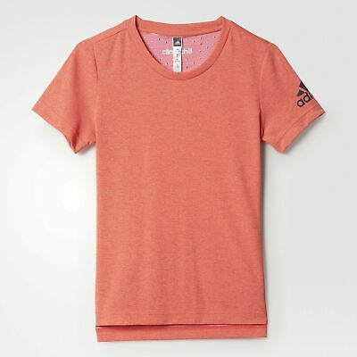 Adidas Climachill Tee Pink/Grey Detail Studs UK Girls Size 7-8 Years (SG) *34