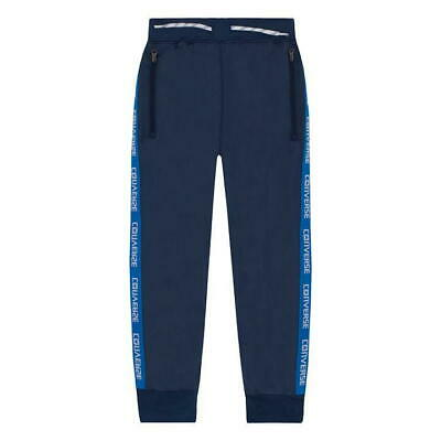 Converse Wordmark Warmup Taped JoggingBottoms Junior Navy UK Size 8-10 Years *32