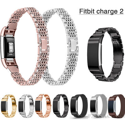 For Fitbit Charge 2 Wrist Strap Watch Band Milanese Stainless Steel Replacement