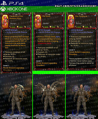 DIABLO 3 PS4 - Xbox One - Primal Modded Weapon - Grim Reaper