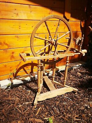 Vintage antique spinning wheel needs restoration, perfect display ~ tv prop shop