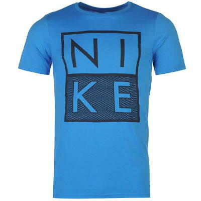 Nike Men/'s Advance White Box Just Do It JDI Athletic Performance Blue T-Shirt