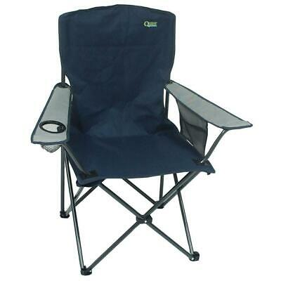 Quest Morecambe Compact Chair Blue Heavy Duty High Back Camping Foldable Outdoor