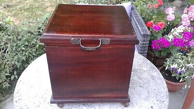 Antique Mahogany  Coffer    Fabulous Condition
