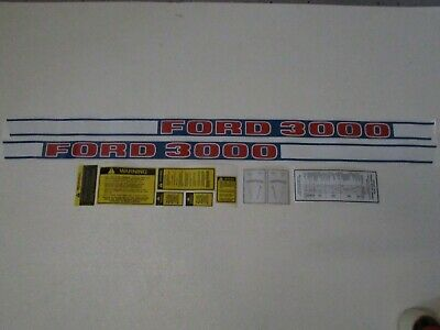 Ford tractor decal set 3000 Diesel with caution stickers  66688 S