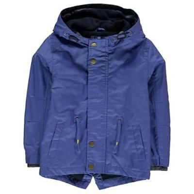 Crafted Rain Mac Child Boys Blue Hooded Size UK 9-10 years *2