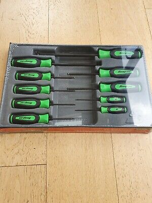 Snap On 10 pc  Ball Hex  Screwdriver Set SGAB1000BG