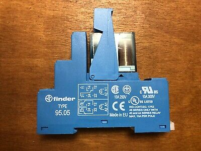 Finder 9505 Relay-Socket TYPE 95.05 with Relay 40.51, new but no box