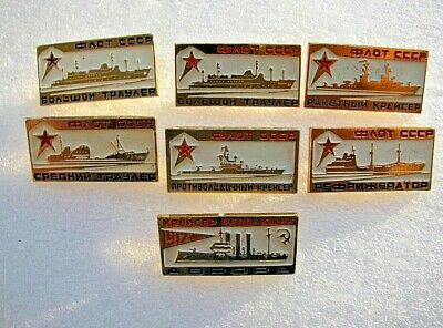 Vintage Badge pin icon Ships of the Soviet Navy USSR