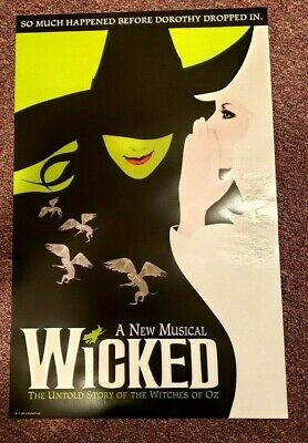 Wicked The Musical *OFFICIAL BROADWAY POSTER* 22 x 14 in*BRAND NEW*