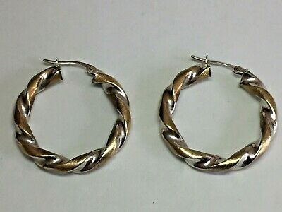 2a39921ec4838 9CT YELLOW GOLD Large Glittery Creole Hoop Ladies Earrings - Uk ...