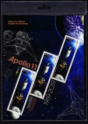 Canada MNH pane of 3 tête-bêche pairs, 2019 Apollo 11, sealed package