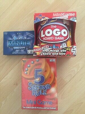 Family board/card game The Logo Board Game Mini Game, New 5 Second Rule & Just A