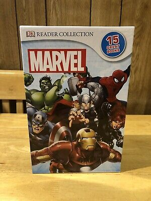 MARVEL DK READER COLLECTION,  15 BOOKS, Avengers/X-Men/Spider-man/Fantastic Four