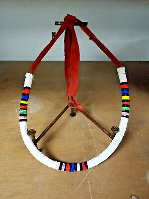 Vintage Native American Indian Beaded Rope Necklace